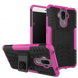 Hybrid Case 2teilig Outdoor Pink für Huawei Mate 9 Tasche Hülle Cover Neu Schutz