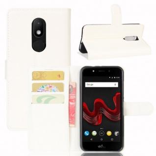 Tasche Wallet Premium Weiß für Wiko Wim Lite Hülle Case Cover Etui Schutz Neu