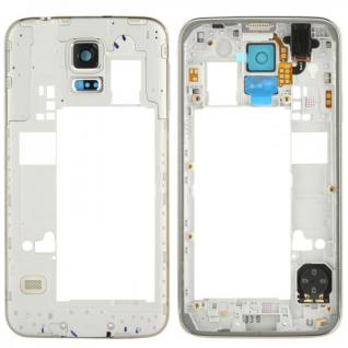 Samsung Galaxy S5 Mittelrahmen Rahmen Kamera Glas Gehäuse Ersatzteil