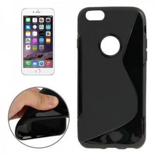 Silikon Case S-Line Bull Eye Schwarz für Apple iPhone 6 4.7 Hülle Cover Kappe