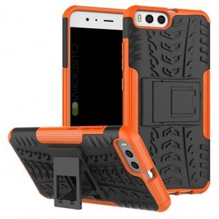 New Hybrid Case 2teilig Outdoor Orange für Xiaomi Mi6 Tasche Hülle Cover Schutz