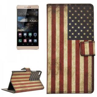 Schutzhülle Muster 10 für Huawei Ascend P8 Bookcover Tasche Hülle Wallet Case