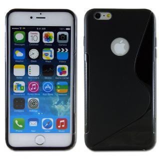 Silikon Case S-Line Bull Eye Schwarz für Apple iPhone 6 Plus 5.5 Hülle Cover Neu