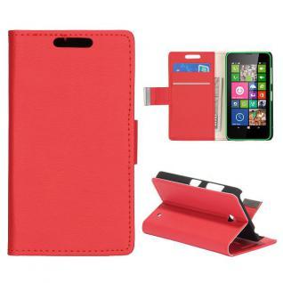 Wallet Hülle Tasche Rot für Nokia Lumia 630 Cover Case Hülle Etui Schutz Neu Top