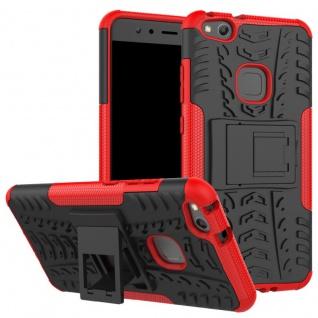New Hybrid Case 2teilig Outdoor Rot für Huawei P10 Lite Tasche Hülle Cover Neu