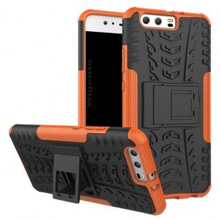 New Hybrid Case 2teilig Outdoor Orange für Huawei P10 Tasche Hülle Cover Schutz