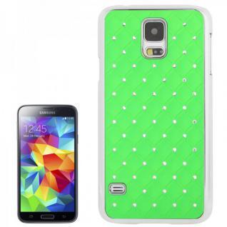 Hardcase Diamant Grün Case Hülle Cover für Samsung Galaxy S5 G900 G900F Schutz