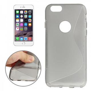 Silikon Case S-Line Bull Eye Grau für Apple iPhone 6 4.7 Hülle Cover Kappe Neu