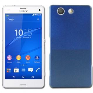 Hardcase Effekt Blau für Sony Xperia Z3 Compact D5803 M55W Case Cover Schale Neu