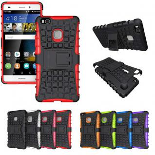 Hybrid Case 2teilig Outdoor Rot für Huawei P9 Lite Tasche Hülle Cover Schutz
