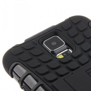 Hybrid Case 2teilig Robot Schwarz Cover Hülle Zubehör Etui für Samsung Galaxy S5