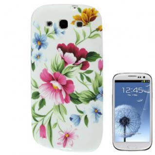 Silikoncover Gemustert 11 für Samsung Galaxy S3 i9300 Hülle Schale Cover + Folie