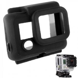 Silikon Schutz Hülle Etui Case Cover Gehäuse Tasche für GoPro Hero 3 Schwarz Box