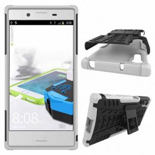 Hybrid Case 2teilig Outdoor Weiß Tasche Hülle für Sony Xperia XZ und XZS Schutz