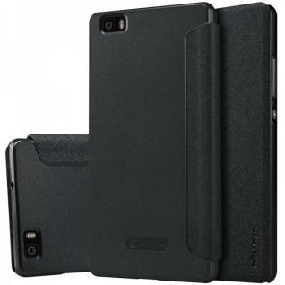 Original Nillkin Smartcover Schwarz für Huawei Ascend P8 Lite Tasche Cover Hülle