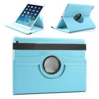 Schutzhülle Kunstleder 360 Grad Tasche Hellblau für Apple iPad Air 2 Hülle Case