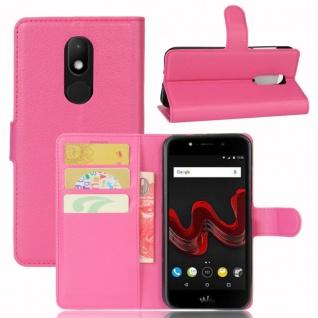 Tasche Wallet Premium Pink für Wiko Wim Lite Hülle Case Cover Etui Schutz Neu