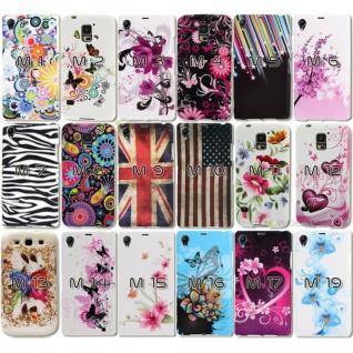 Silikonhülle Design Motiv Muster Hülle Case Schale Cover für HTC Handys Neu Top