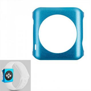 Premium Snap On Alu Backcase Blau für Apple Watch 42 mm Schutzhülle Backcover