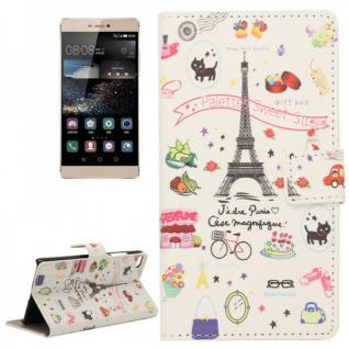 Schutzhülle Muster 45 für Huawei Ascend P8 Bookcover Tasche Hülle Wallet Case