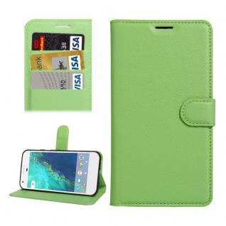 Bookcover Tasche Wallet Design für Google Pixel 5.0 Schutzhülle Hülle Etui Grün