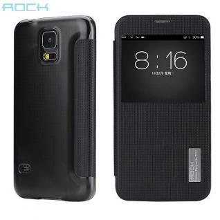 Original ROCK Smartcover Schwarz für Samsung Galaxy S5 Tasche Cover Case Hülle