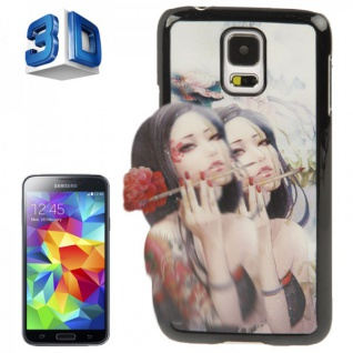 Hardcase Design 3D Optik 6 Hülle Case Schale Cover für Samsung Galaxy S5 G900 F