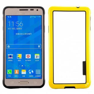 Hybrid Bumper Gelb Hülle Case Schale Tasche für Samsung Galaxy Alpha G850 G850F