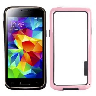 Bumper Rosa Hülle Case Schale Tasche für Samsung Galaxy S5 Mini G800 G800F A Neu
