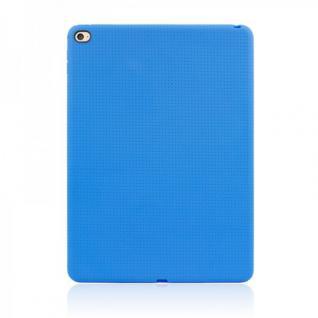 Schutzhülle Silikon Hülle Netz Serie Blau Case für Apple iPad Air 2 2014 Cover