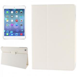 Schutzhülle Kunstleder Tasche Weiss für Apple iPad Air Hülle Case Kappe Schutz