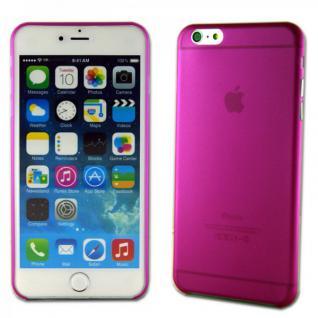 Hardcase Glossy Ultra Dünn 0, 3 mm Pink für Apple iPhone 6 Plus 5.5 Hülle Case