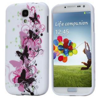 Silikoncase für Muster 14 Samsung Galaxy S4 i9500 i9505 LTE + Displayschutzfolie