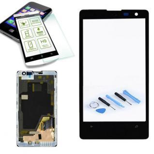 Display LCD Komplett Einheit mit Rahmen für Nokia Lumia 1020 Schwarz Reparatur