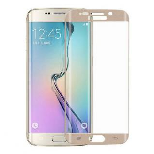 0, 3 mm H9 gebogenes Panzerglas Gold Folie für Samsung Galaxy S6 Edge G925 F Echt