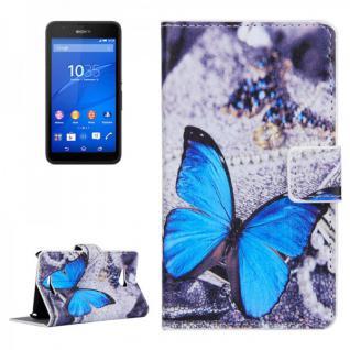Schutzhülle Muster 42 für Sony Xperia E4G Bookcover Tasche Hülle Wallet Case
