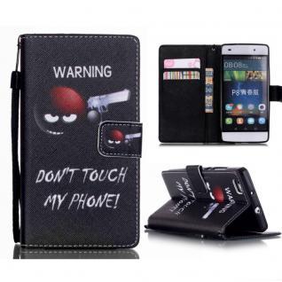 Schutzhülle Muster 72 für Huawei Ascend P8 Lite Bookcover Tasche Hülle Wallet7