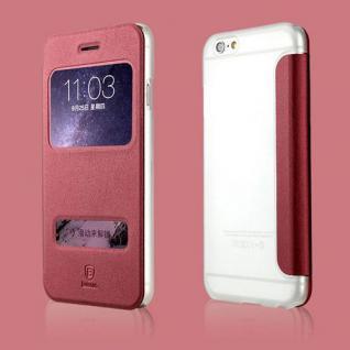 Original Baseus View Tasche Rot für Apple iPhone 6 4.7 Etui Hülle Schutz Cover