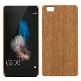 Hardcase Holz-Optik Hell Hülle für Huawei Ascend P8 Lite Case Cover Tasche Etui