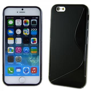 Silikoncase S-Line Design Case Schwarz Cover Zubehör für Apple iPhone 6 4.7 Neu