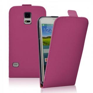 Fliptasche Deluxe Pink für Samsung Galaxy S5 G900F Tasche S5 Plus G901F Hülle