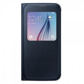 Original Samsung GALAXY S6 Schutzhülle S View Cover EF-CG920P Schwarz Smartcover