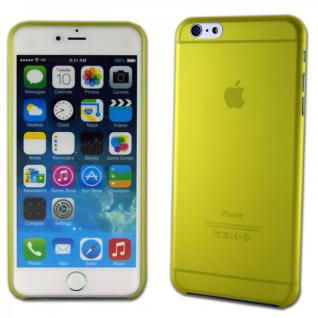 Hardcase Glossy Ultra Dünn 0, 3 mm Gelb für Apple iPhone 6 Plus 5.5 Hülle Cover