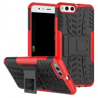 New Hybrid Case 2teilig Outdoor Rot für Xiaomi Mi6 Tasche Hülle Cover Schutz Neu