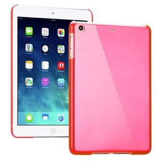 Hardcase Glossy Pink für Apple iPad Air Case Cover Hülle Schale Etui + Folie