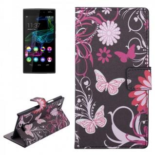 Schutzhülle Muster 4 für Wiko Ridge 4G Bookcover Tasche Hülle Wallet Case Flip