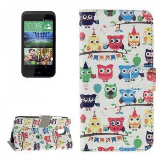 Schutzhülle Muster 44 für HTC Desire 526G Bookcover Tasche Hülle Wallet Case Neu