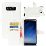 Schutzhülle Weiß für Samsung Galaxy Note 8 N950F Bookcover Tasche Case Cover Neu