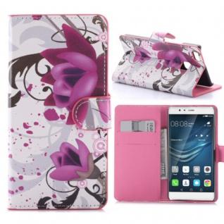 Schutzhülle Muster 3 für Huawei P9 Lite Bookcover Tasche Case Hülle Wallet Etui