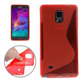 Silikonhülle S-Line Rot Cover Hülle für Samsung Galaxy Note 4 N910 N910F Case